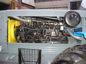 Двигатель Д- 260 внутри трактора