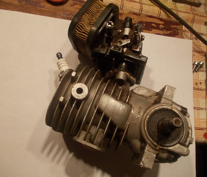 Двигатель из газонокосилки