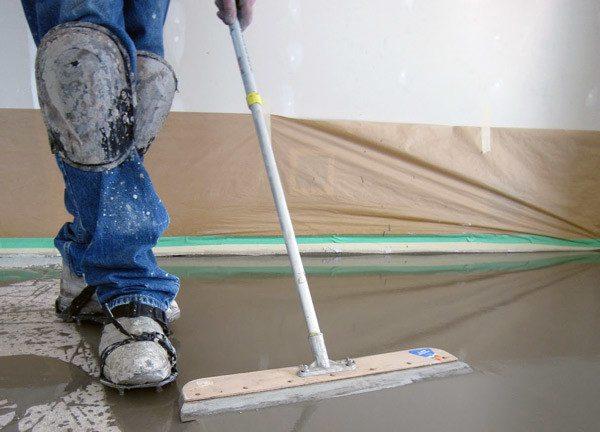 Как сделать бетон гладким после заливки