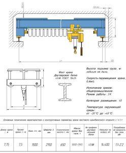 Кран-балка 5т - технические характеристики