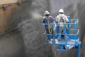 Нанесения бетона методом торкретирования