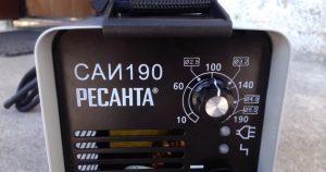 Панель управления сварочным аппаратом Ресанта САИ 190