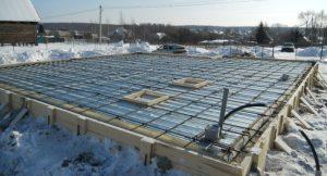 Предотвращение замерзания бетона