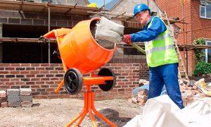 Приготовление бетонного раствора на стройплощадке