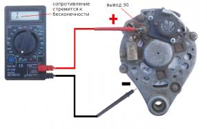 Проверка диодного моста генератора