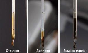 Проверка уровня масла двигателя