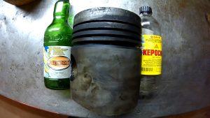 Раскоксовка поршневых колец керосином
