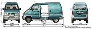 Размеры фургона FAW 6371