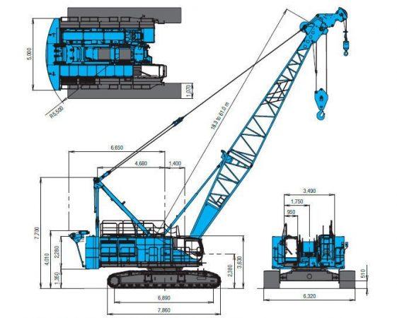 Размеры крана Kobelco Crane Co