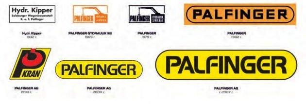 Разные эмблемы компании Palfinger