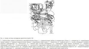 Схема системы охлаждения двигателя КамАЗ-740