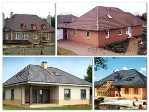 Варианты четырехскатной крыши